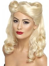 1940's Pin-Up Girl Wig In Blonde